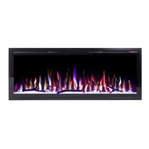 Foyer électrique encastrable Flamehaus avec lumières DEL, 42,75 po, noir