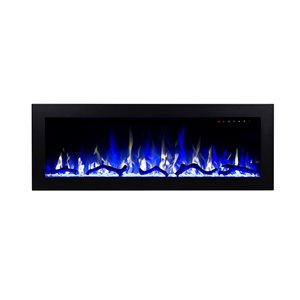 Flamehaus Electric Fireplace Insert - LED Lights - 42.75-in - Black