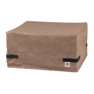 Duck Covers Elite Square Fire Pit Cover - 50-in - Brown