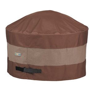 Duck Covers Ultimate Round Fire Pit Cover - 68-in - Brown