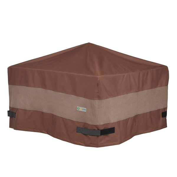 Housse de foyer d'extérieur carré Ultimate de Duck Covers, 44 po, brun