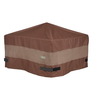 Duck Covers Ultimate Square Fire Pit Cover - 44-in- Brown