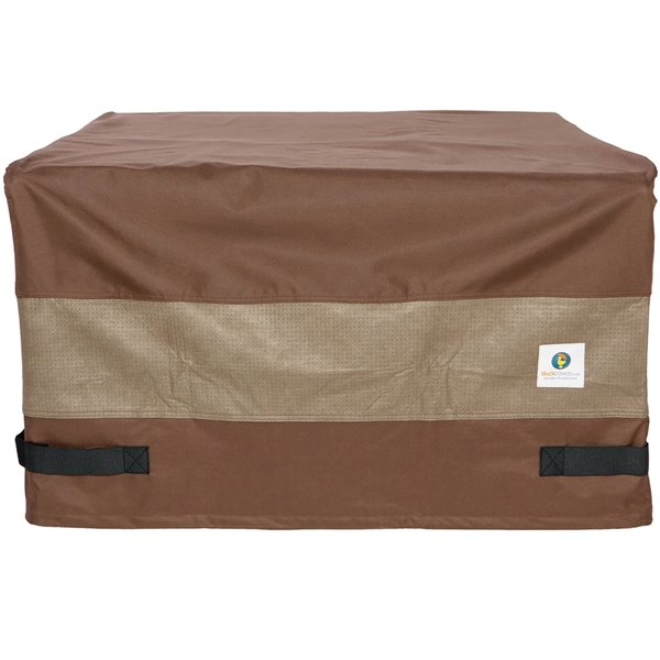 Duck Covers Ultimate Square Fire Pit Cover - 32-in - Brown
