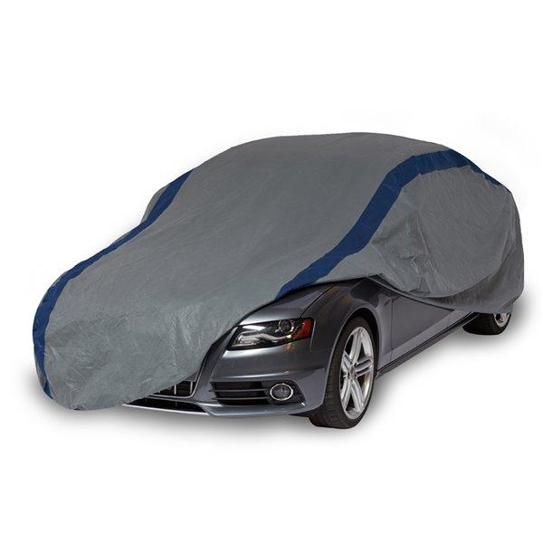 Duck Covers Weather Defender Sedan Car Cover - 16 ft. - Black