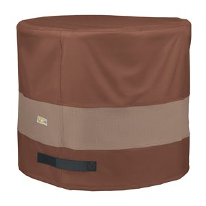 Duck Covers Ultimate Round Air Conditioner Cover - 32 cm x 30 cm - Brown/Tan
