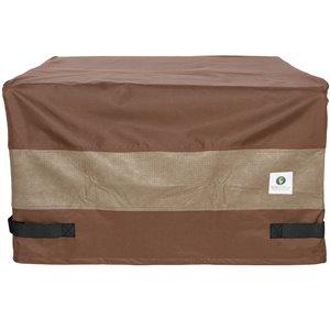 Housse de foyer d'extérieur carré Ultimate de Duck Covers, 50 po, brun