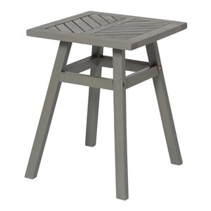Walker Edison Outdoor Chevron Side Table - Grey Wash
