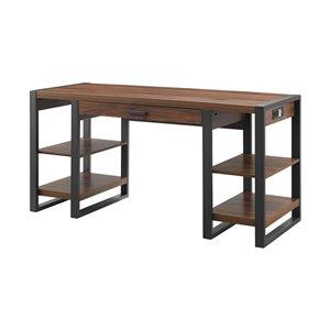 Walker Edison Wood Computer Desk - 60-in - Dark Walnut