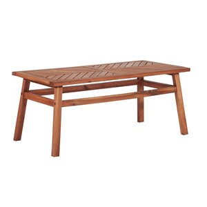 Walker Edison Wood Patio Table - Brown