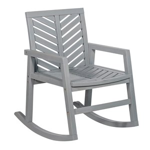 Walker Edison Outdoor Chevron Rocking Chair - Grey Wash