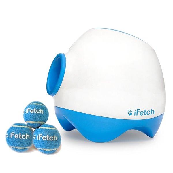 Jouet lance et rapporte pour chien Ifetch Too, blanc et bleu