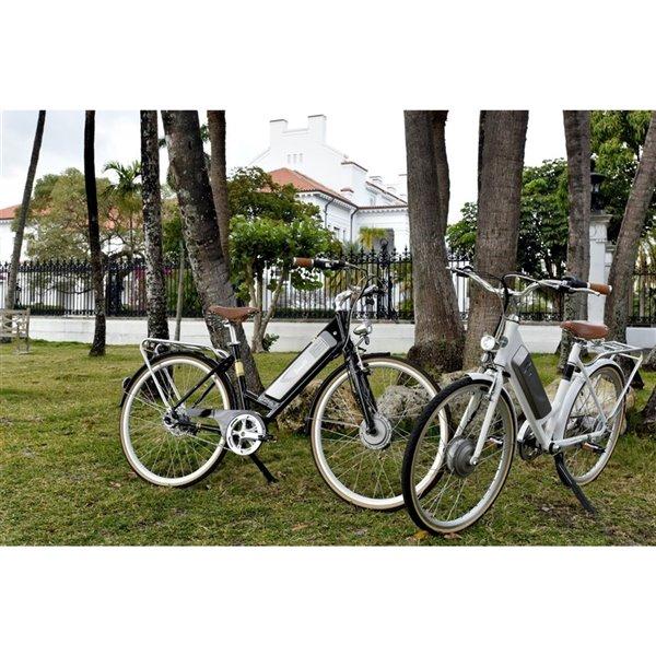 Vélo électrique Benelli Classica Retro, moteur EV, 28 po, blanc