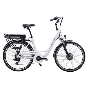 Vélo électrique Benelli Mio 26 po, moteur EV, blanc