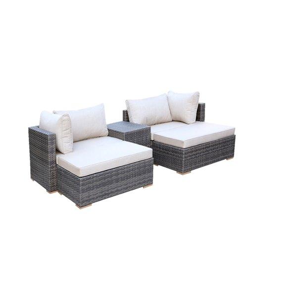 Allspace 5-Piece Metal Wicker Patio Set - Sunbrella Cushion(s) Included