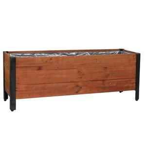 Jardinière en bois de Grapevine, 12,6 po x 15,35 po, brun