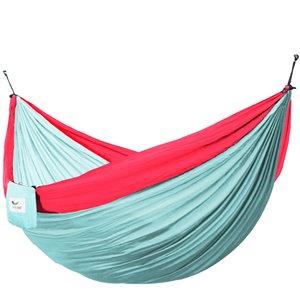 Hamac parachute double en nylon de Vivere, Rose/Celeste