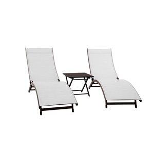 Vivere Coral Springs Lounge Chair Set - Pearl