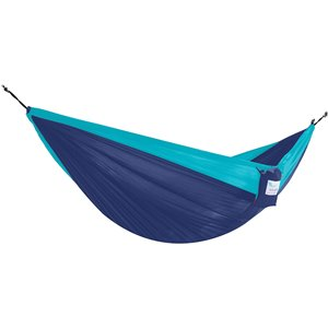 Vivere Double Parachute Hammock - Nylon - Navy/Turquoise