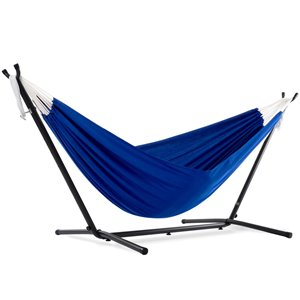 Hamac double en polyester de Vivere avec support, Royal Blue