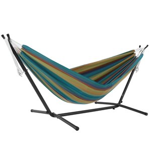 Vivere Sunbrella Hammock - with Stand - Lagoon