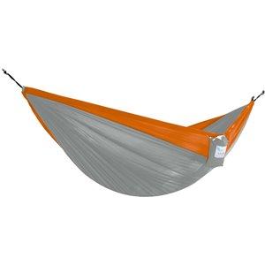 Vivere Double Parachute Hammock - Nylon - Grey/Orange