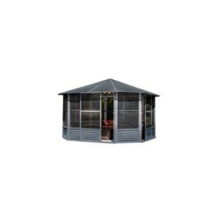 Gazebo Penguin Florence Solarium with Metal Roof 12-ft x 12-ft - Slate