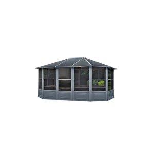 Gazebo Penguin Florence Solarium with Metal Roof 12-ft x 15-ft - Slate