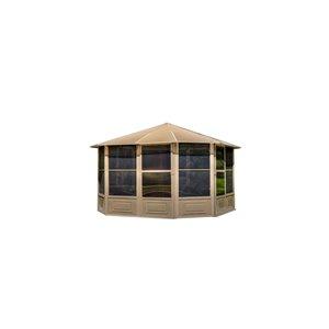 Solarium Florence de Gazebo Penguin avec toit en métal 12 pi x 12 pi, sable
