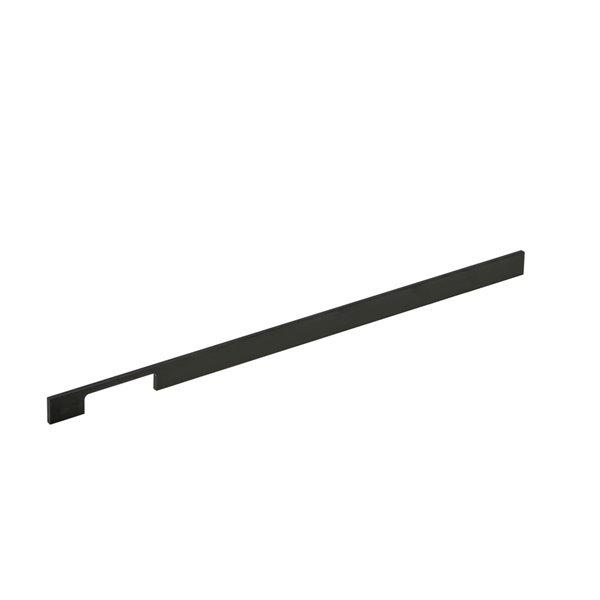 Poignée d'armoire Aversa de Richlieu contemporaine, 768 mm, noir mat