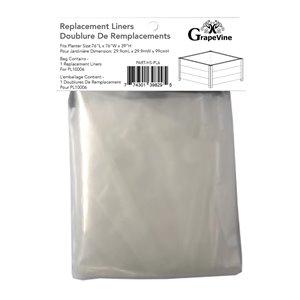 Doublure de remplacement pour PL10005 de Grapevine, plastique, carré, 29,5 po x 29,5 po x 10,63 po, clair