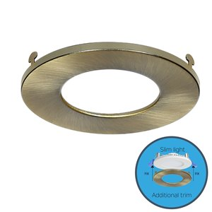 Nadair Ultra Slim Clip on Colour Trim for Panel Light - Antique Brass