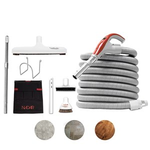 Nadair Central Vacuum Hardwood Cleaning Tools Attachment Kit - 30 ft.