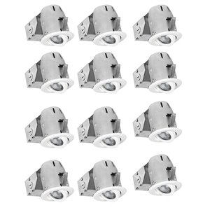 Nadair LED Swivel Recessed Lights - 12 Pack - 3-in - White