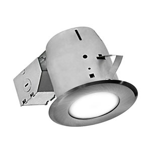 Nadair LED Swivel Recessed Round Shower Lights - 4-in