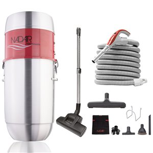 Nadair Large Capacity Central Vacuum and Attachment Cleaning Kit