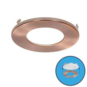 Nadair Ultra Slim Clip on Colour Trim for LED Panel Light - Copper