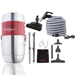 Nadair Compact Central Vacuum System and Electric Kit