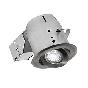 Nadair LED Swivel Recessed Lights - 4-in - Brushed Nickel