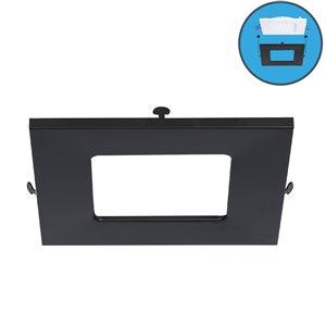 Garniture de couleur pour panneaux à DEL Ultra Mince de Nadair, noir
