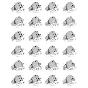 Nadair LED Swivel Recessed Lights - 24 Pack - 4-in - White