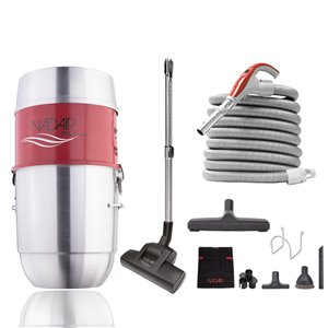 Nadair Compact Central Vacuum and Attachment Kit