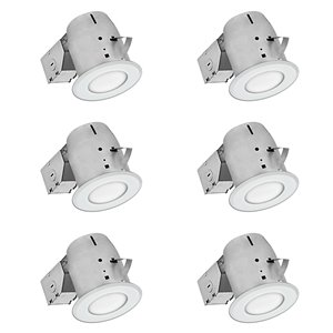 Nadair LED Swivel Recessed Shower Lights - 6 Pack - 4-in