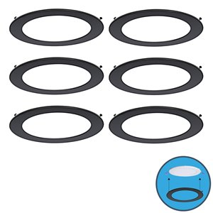 Nadair Ultra Slim Clip on Colour Trim - 6 Pieces - Black