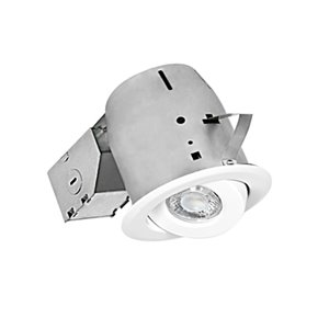 Nadair LED Swivel Recessed Lights - 4-in - White