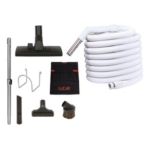 Nadair Central Vacuum Attachment Kit for Garage - 30 ft.