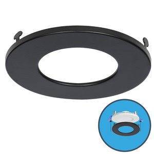 Nadair Slim Clip on Colour Trim for LED Panel Light  - Black