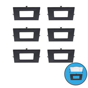 Nadair Ultra Slim Clip on Colour Trim for LED Panel Light - 6 Pack - Black
