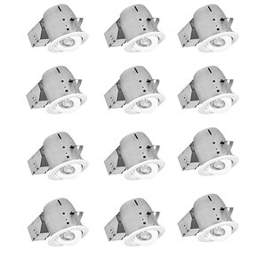 Nadair LED Swivel Recessed Lights - 12 Pack - 4-in