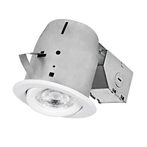 Nadair LED Swivel Round Recessed Lights - 4-in - White