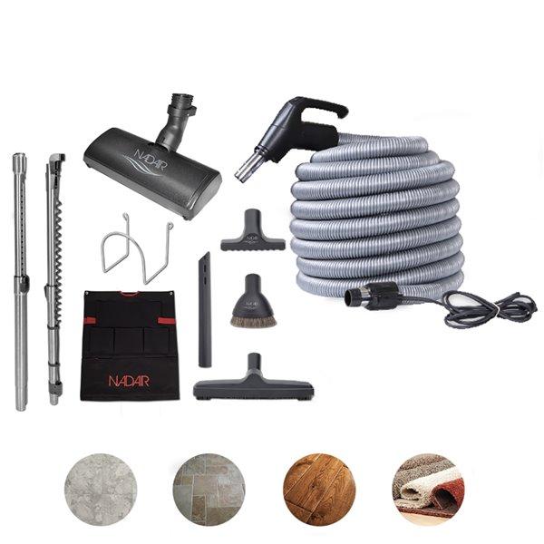 Ens. d'accessoires profilés pour aspirateur centrale de Nadair, 40 ft.